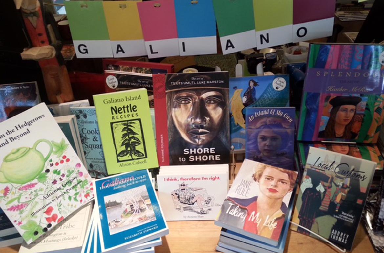 Highlighting homegrown Galiano books