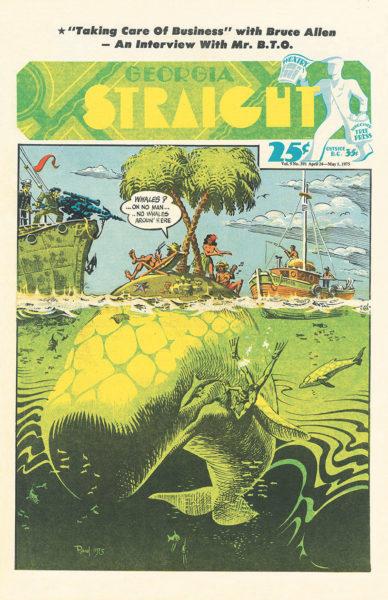 Cover of Georgia Straight featuring Greenpeace 1975