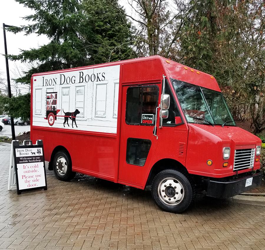 Iron Dog Books parked at SFU Burnaby