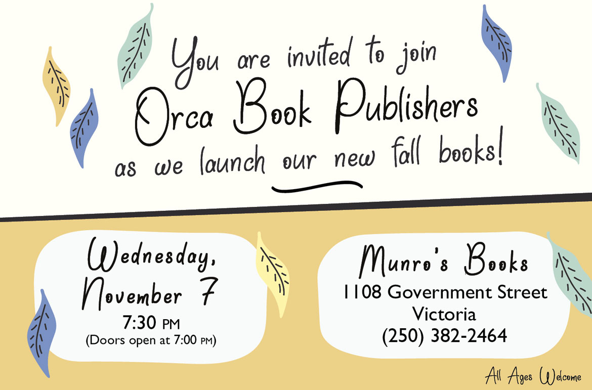 Orca Book Publishers: Fall 2018 Books Launch – Read Local BC